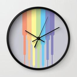 Rainbow descending (Pastel) Wall Clock