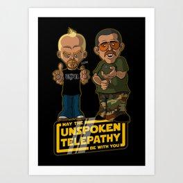 Unspoken Telepathy Art Print