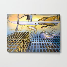 Salvador Dali The Disintegration of the Persistence of Memory 1954 Artwork for Wall Art, Prints, Posters, Tshirts, Men, Women, Kids Metal Print