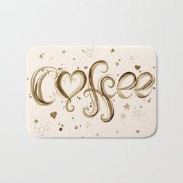 Coffee Molecules Caffeine Bath Mat