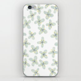 Blue Cherry Blossom iPhone Skin