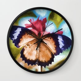Beautiful Monarch Butterfly Wall Clock