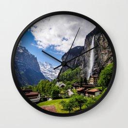 Lauterbrunnen Wall Clock
