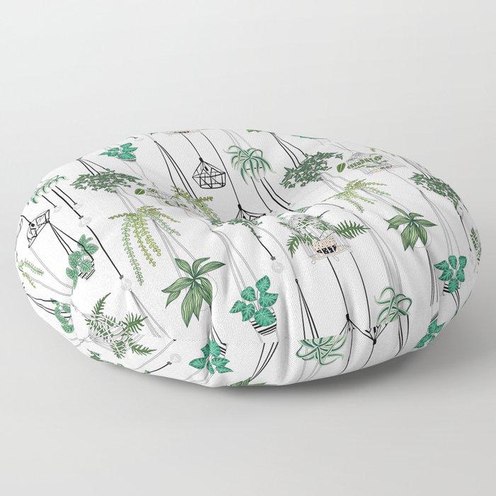 hanging pots pattern Floor Pillow