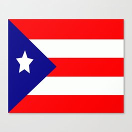 Flag of Puerto Rico Canvas Print