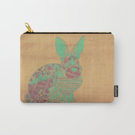 Bunny in Patterns Carry-All Pouch