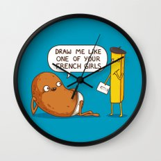 French Potato Wall Clock