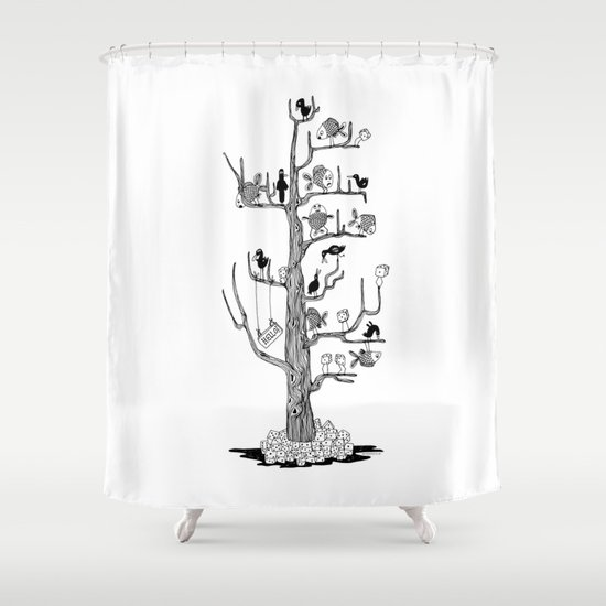 The Bahkadisch Tree Shower Curtain