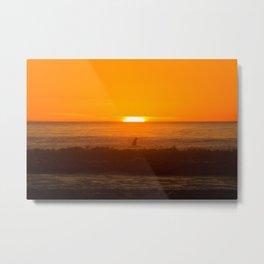 California Sunset Surfing edition 2 Metal Print