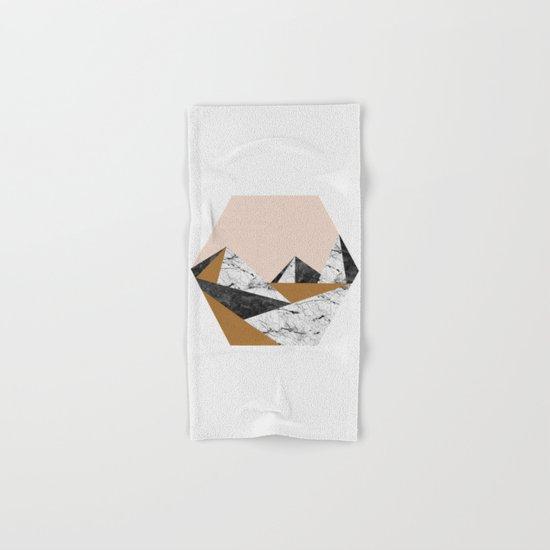 Geo Landscape Hexagon Hand & Bath Towel