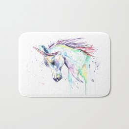 Colorful Unicorn Watercolor Painting - Kenzie's Unicorn Bath Mat