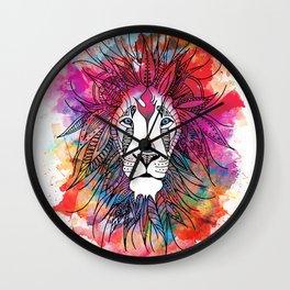 The Lion's Mane - Colors Roar Wall Clock