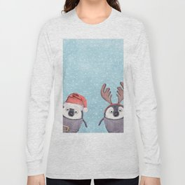 CHRISTMAS PENGUINS Long Sleeve T-shirt