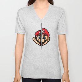 Old & New Mario Unisex V-Neck