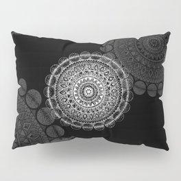Silver Circle Mandala Pillow Sham