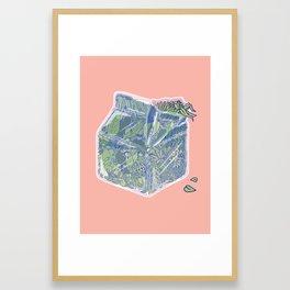 Plant Milk Framed Art Print