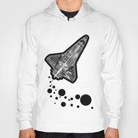 ufo Hoodies featuring UFO by MAKE ME SOME ART