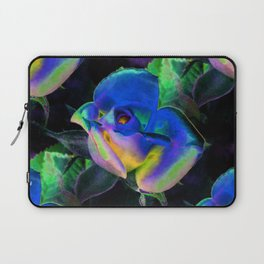 Blue Colorful Rose Laptop Sleeve