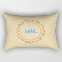 Life and coffee Rectangular Pillow