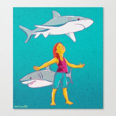 Flying Shark Canvas Print