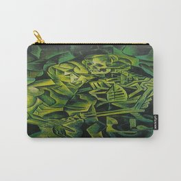 A Skeleton Embracing A Zombie Halloween Horror Carry-All Pouch