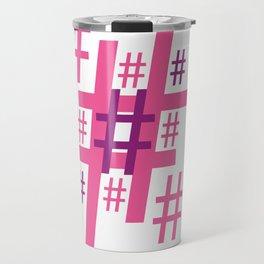 Hashtag Travel Mug
