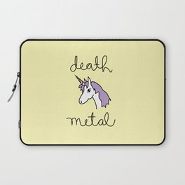 Death Metal Unicorn Laptop Sleeve