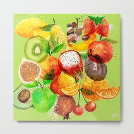 FRUITS CONFUSION Metal Print