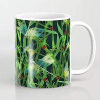fireflies Mugs featuring fireflies by kociara