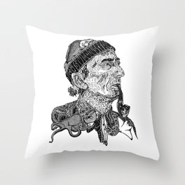 Jacques Cousteau Throw Pillow