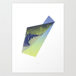 Triangle Mountains Art Print
