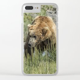 Brown Bear After His Dip Clear iPhone Case