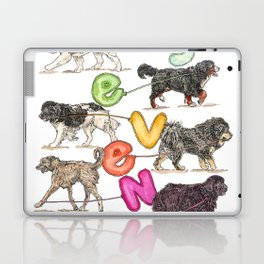 Dogs with Balloons Laptop & iPad Skin