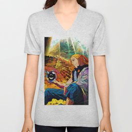 Colorful Father Unisex V-Neck