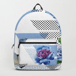 Blue roses geometry Backpack