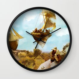 Sky Fishermen Wall Clock