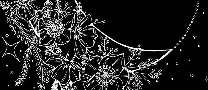 The Flower Moon; Crescent Moon; Feathers; Dream Catcher; Chalk Art Coffee Mug