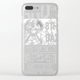 Firefighter And The Devil Clear iPhone Case