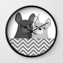 Dog friends Wall Clock
