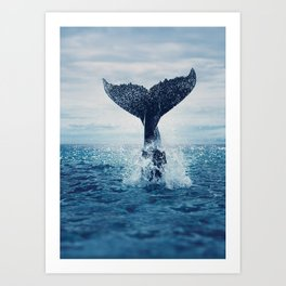 Your dance for the ocean, vast and blue Art Print