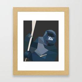 Origami monkey Framed Art Print