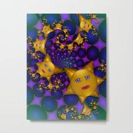 Little Gold Stars Metal Print