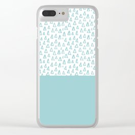 Triangles Mint Clear iPhone Case