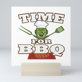 Funny Grill Party Grilling Master Ork Summer Gift Mini Art Print