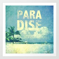 paradise Art Prints featuring Paradise by M Studio