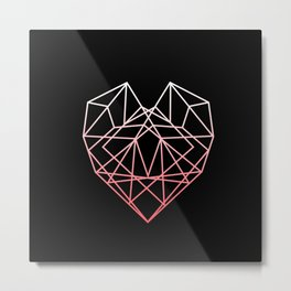 Heart of Glass   Graphic Design Metal Print