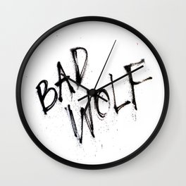 Doctor Who bad wolf Wall Clock