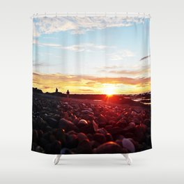 Pebble Beach Saturated Shower Curtain