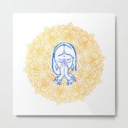 Namaste | Wisdom Flower Mandala Metal Print