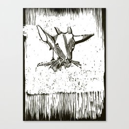 Y Not? - Black and White Canvas Print